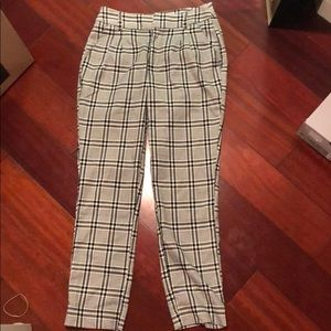 Abercombie and Fitch plaid trousers